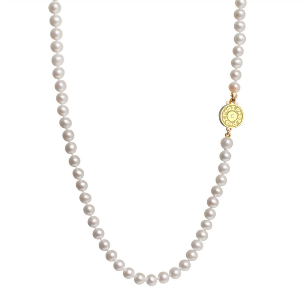 Phi Sigma Rho Pearl Necklace