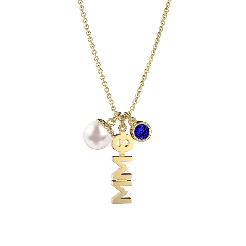 Phi Sigma Sigma Triple Charm Necklace