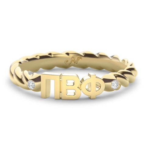 Pi Beta Phi Twist Ring