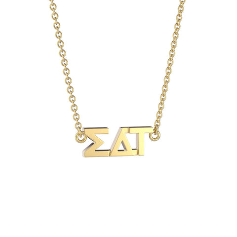 Sigma Delta Tau Signature Lavalier Necklace
