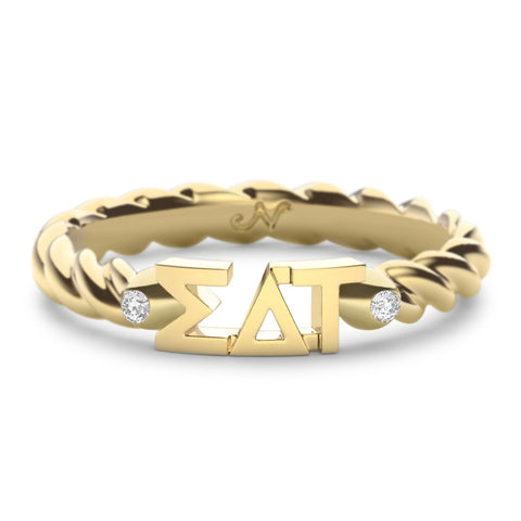 Sigma Delta Tau Twist Ring