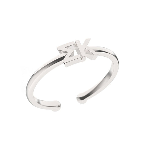 Sigma Kappa Thin Band Letter Ring