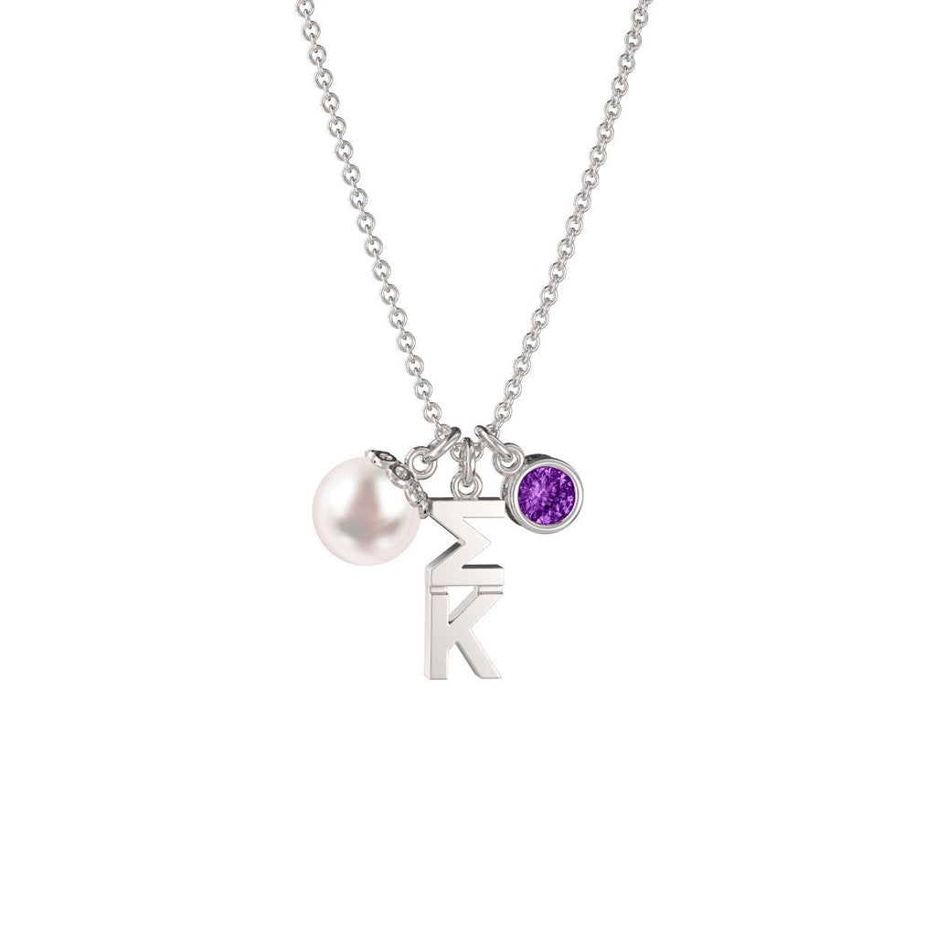 Sigma Kappa Triple Charm Necklace