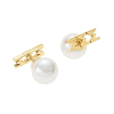Sigma Sigma Sigma Letter Studs with Pearl Backs