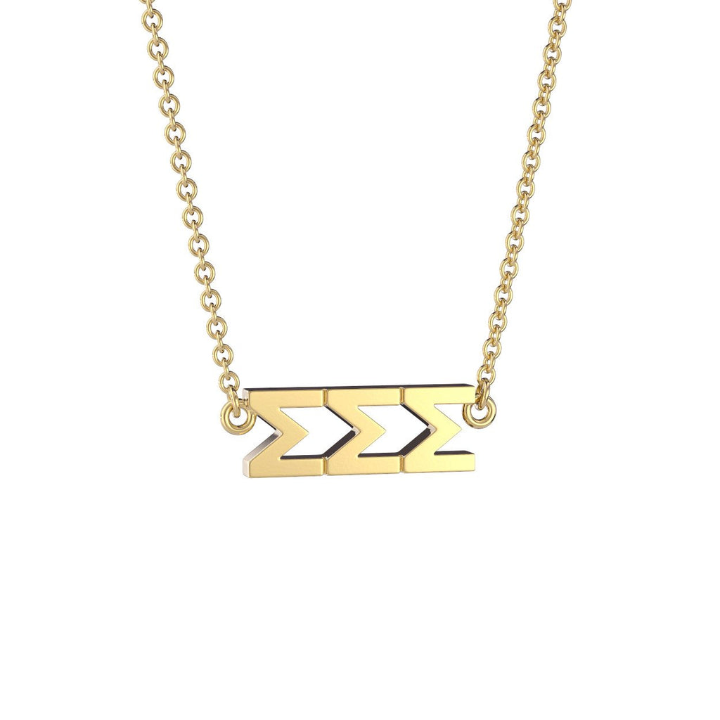 Sigma Sigma Sigma Signature Lavalier Necklace