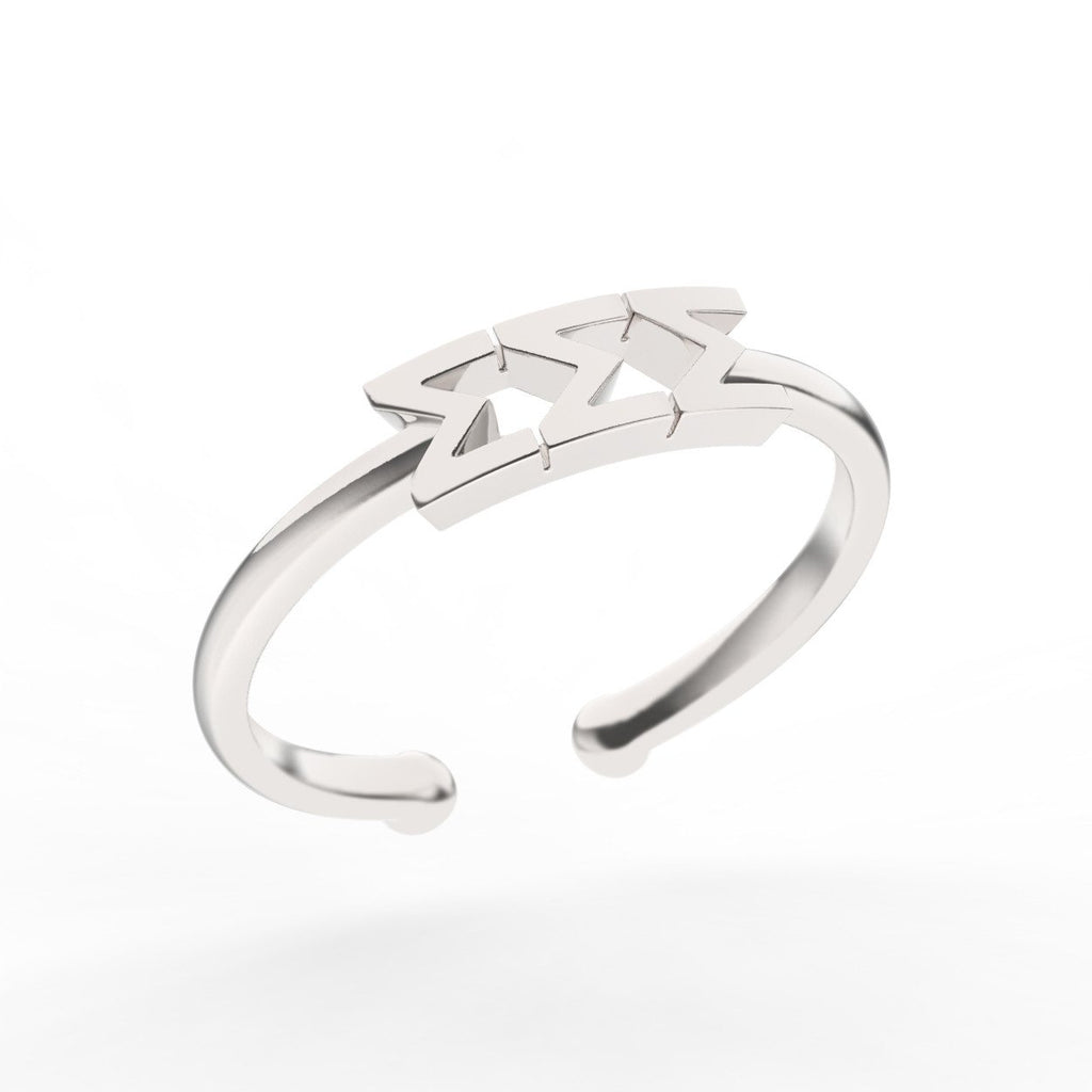 Sigma Sigma Sigma Thin Band Letter Ring