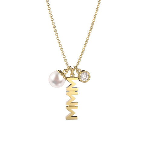 Sigma Sigma Sigma Triple Charm Necklace
