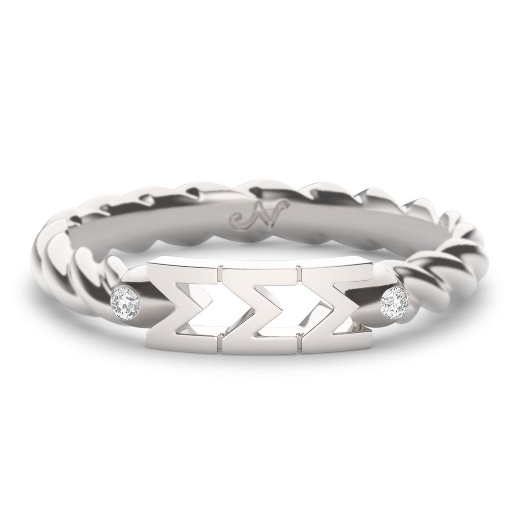 Sigma Sigma Sigma Twist Ring