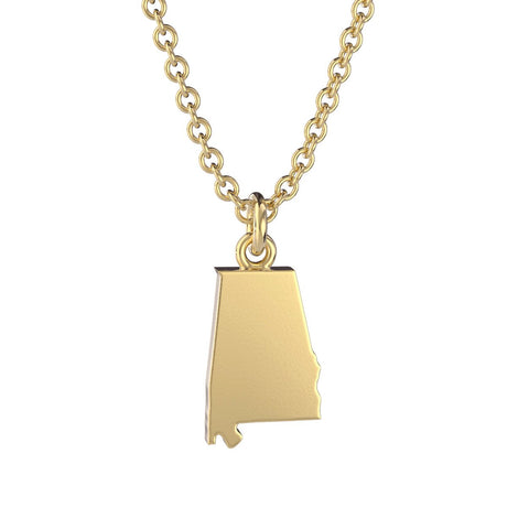 Alabama State Charm Necklace
