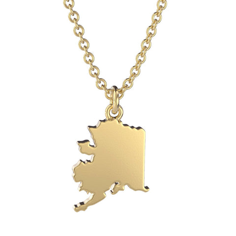 Alaska State Charm Necklace