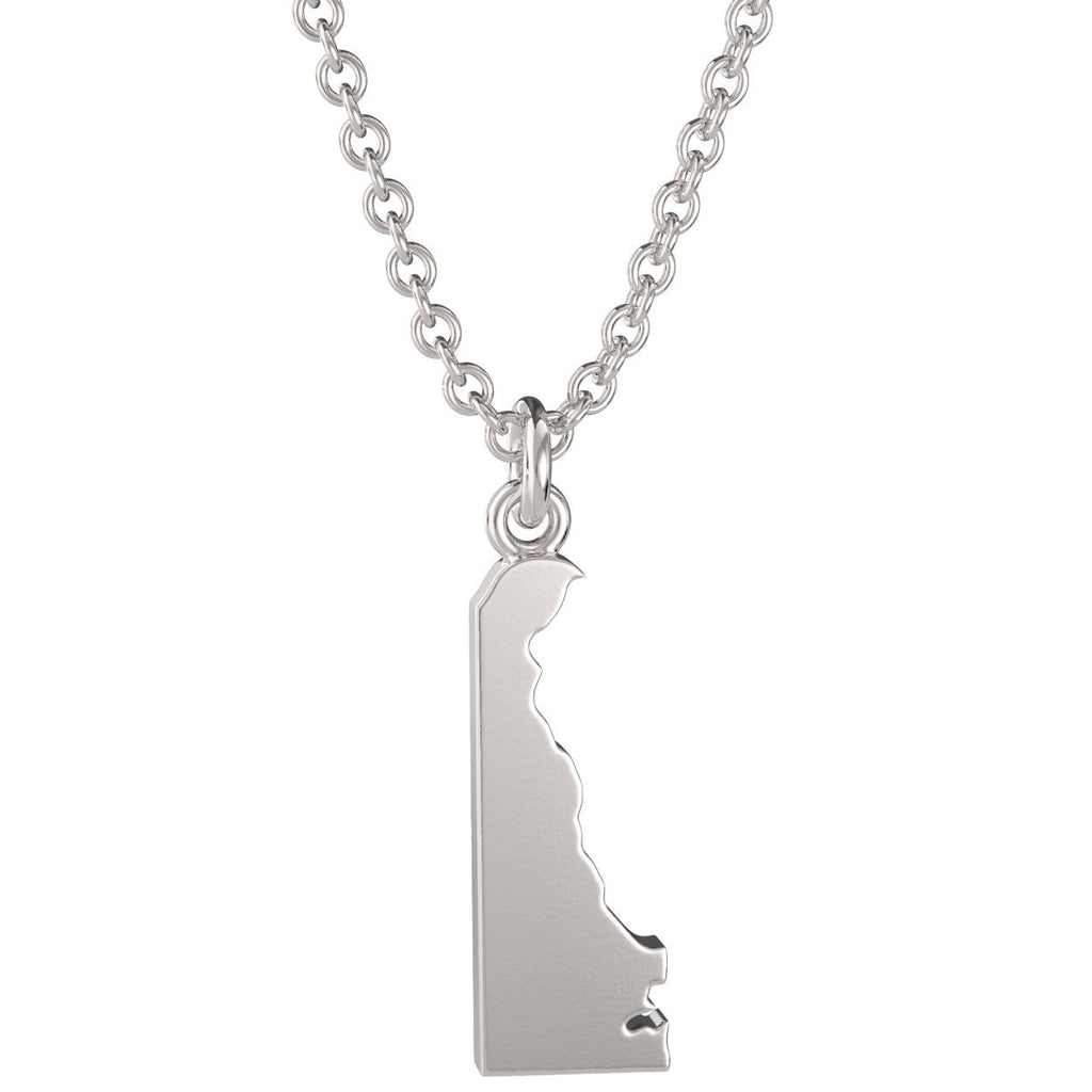 Delaware State Charm Necklace