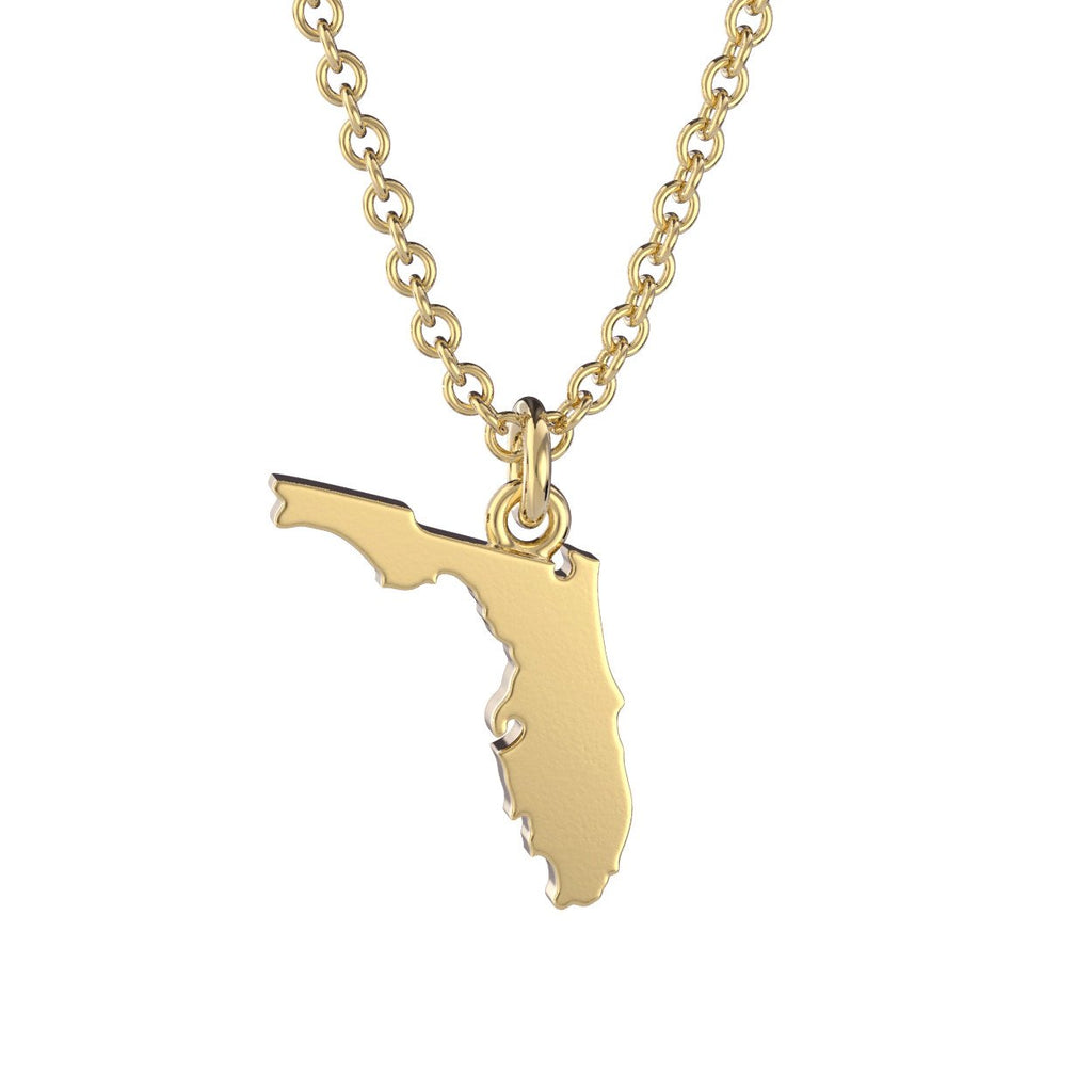 Florida State Charm Necklace