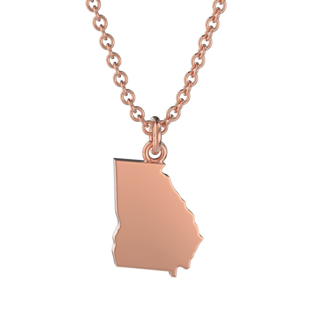 Georgia State Charm Necklace