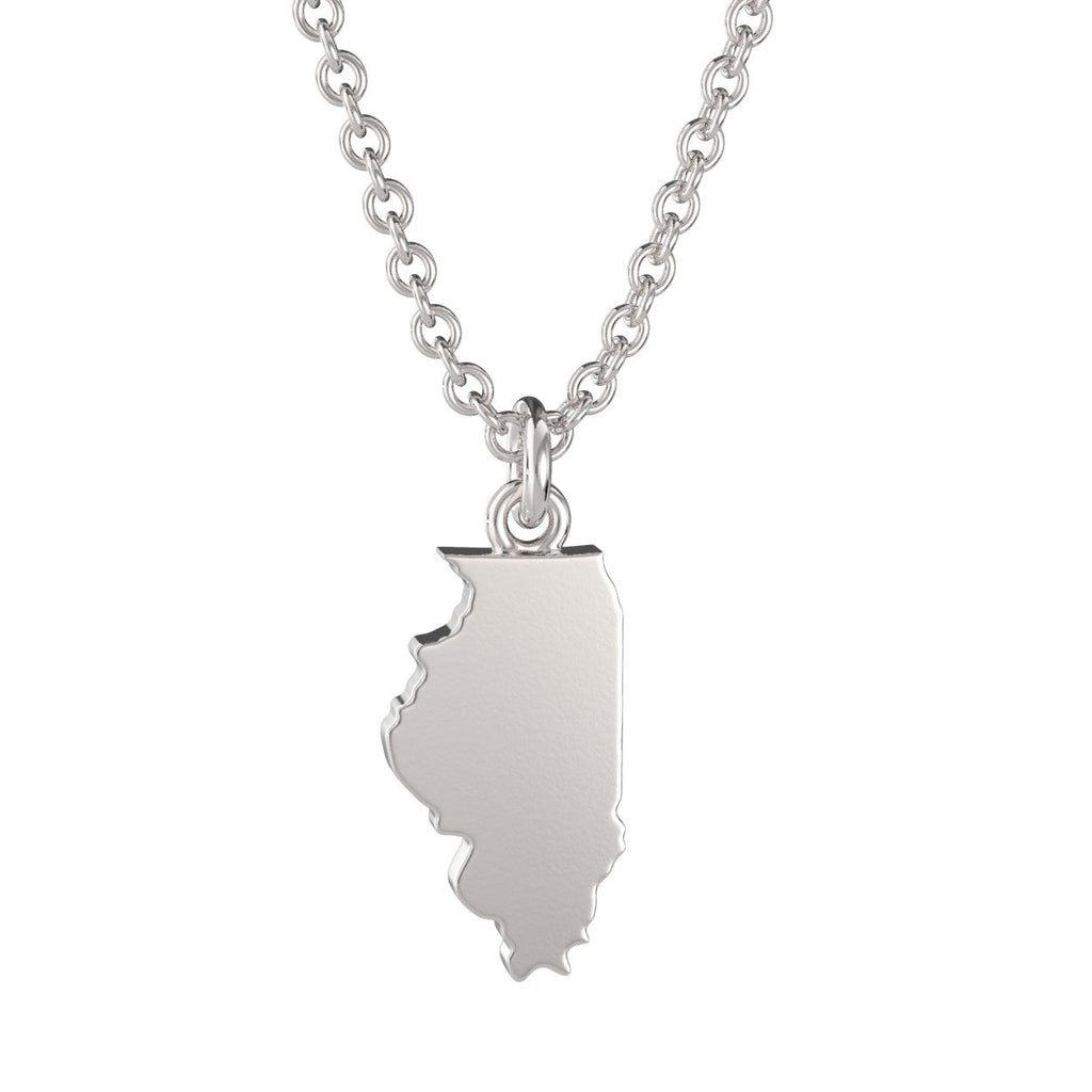 Illinois State Charm Necklace