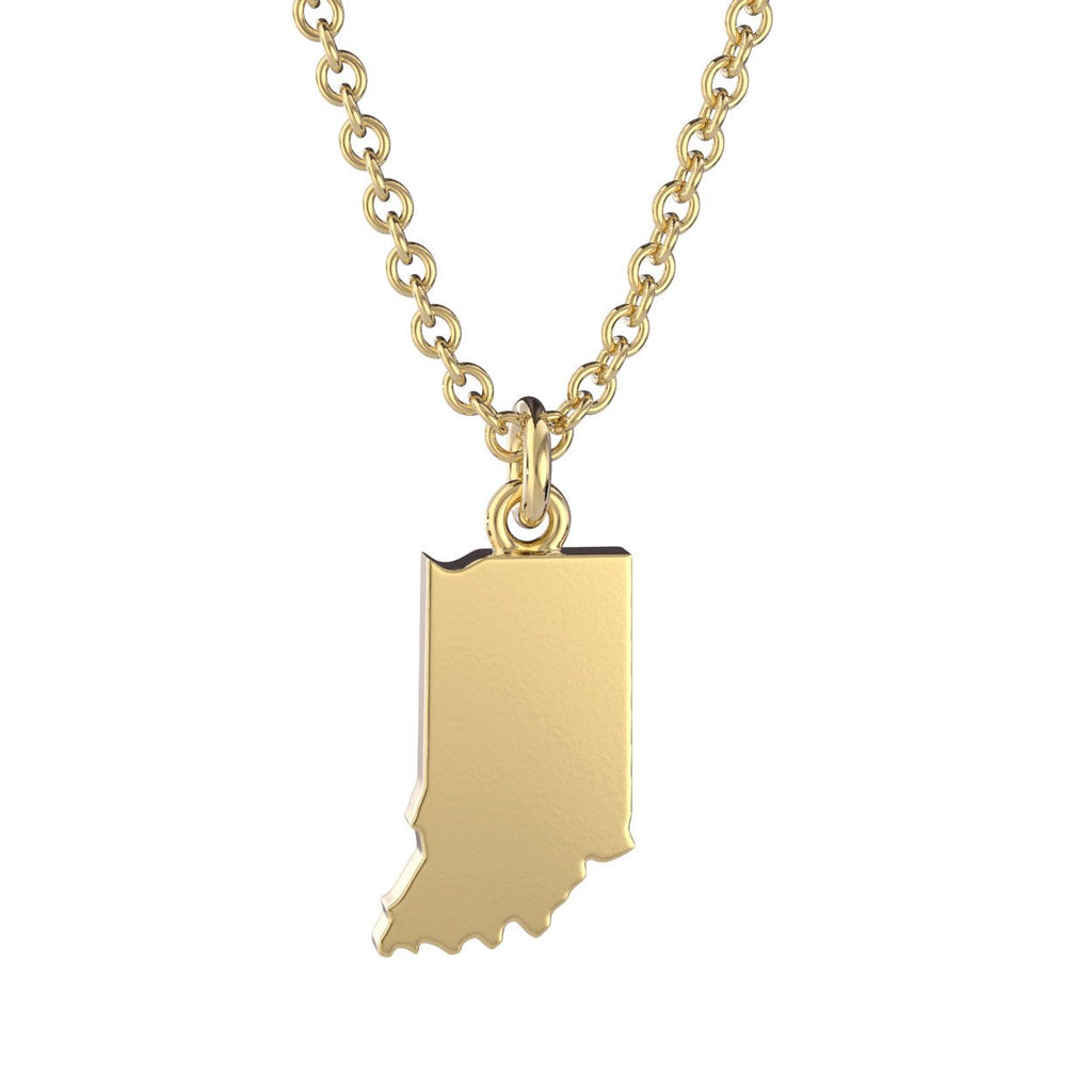 Indiana State Charm Necklace