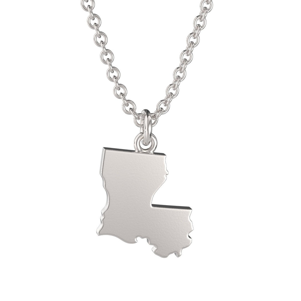 Louisiana State Charm Necklace