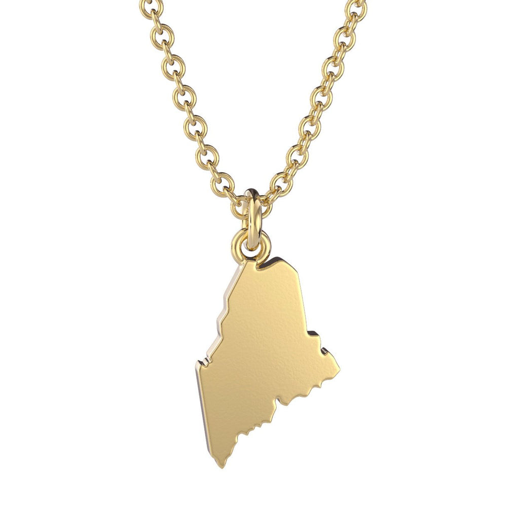 Maine State Charm Necklace