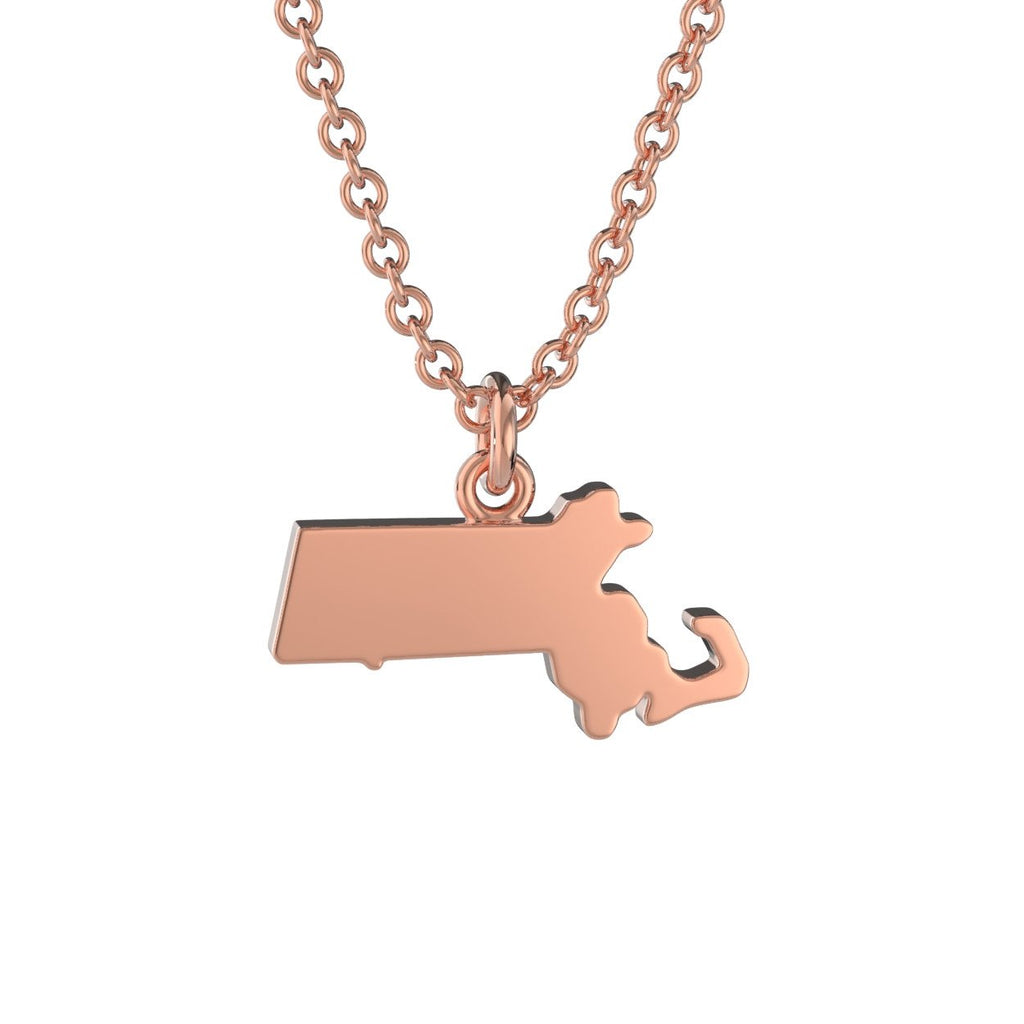 Massachusetts State Charm Necklace