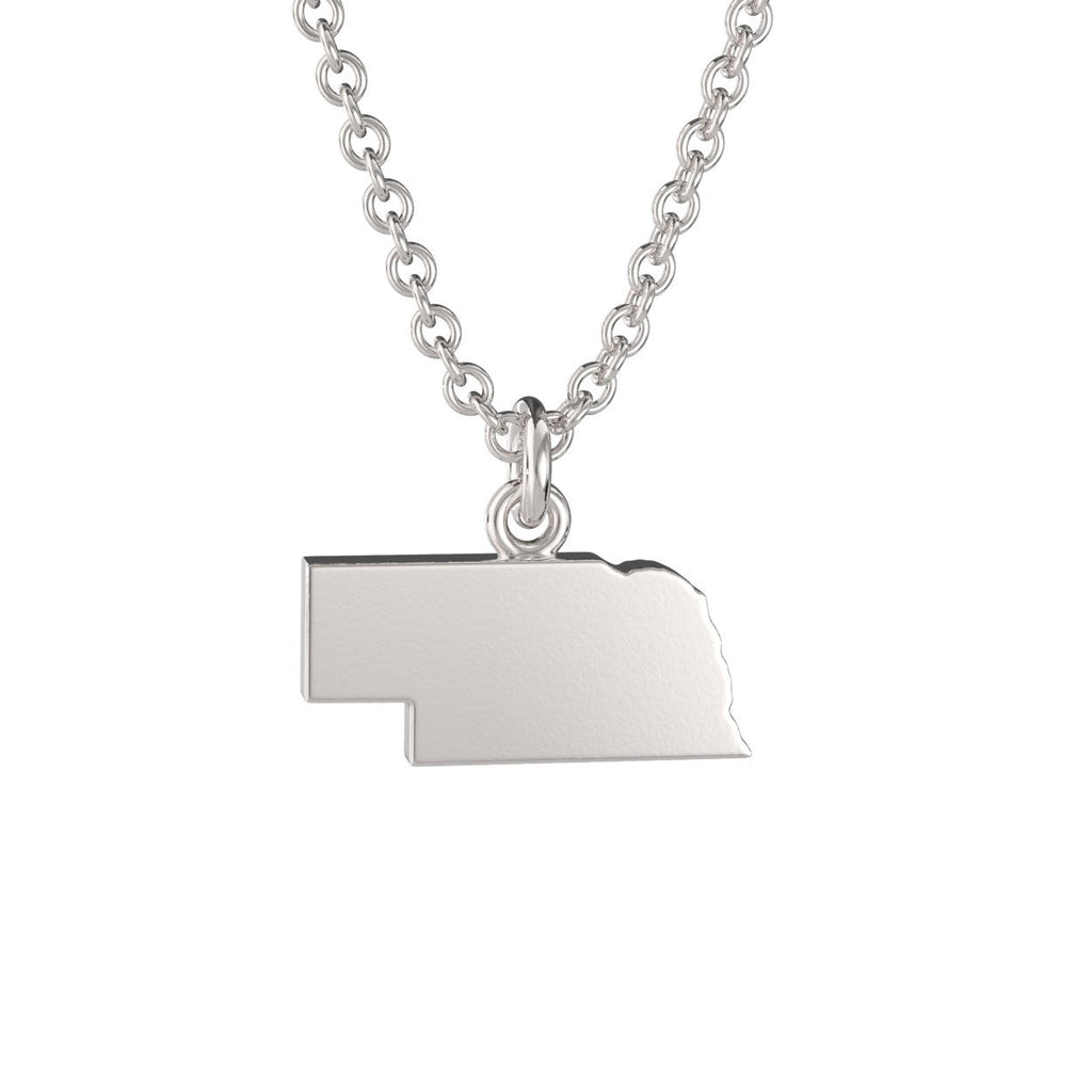Nebraska State Charm Necklace