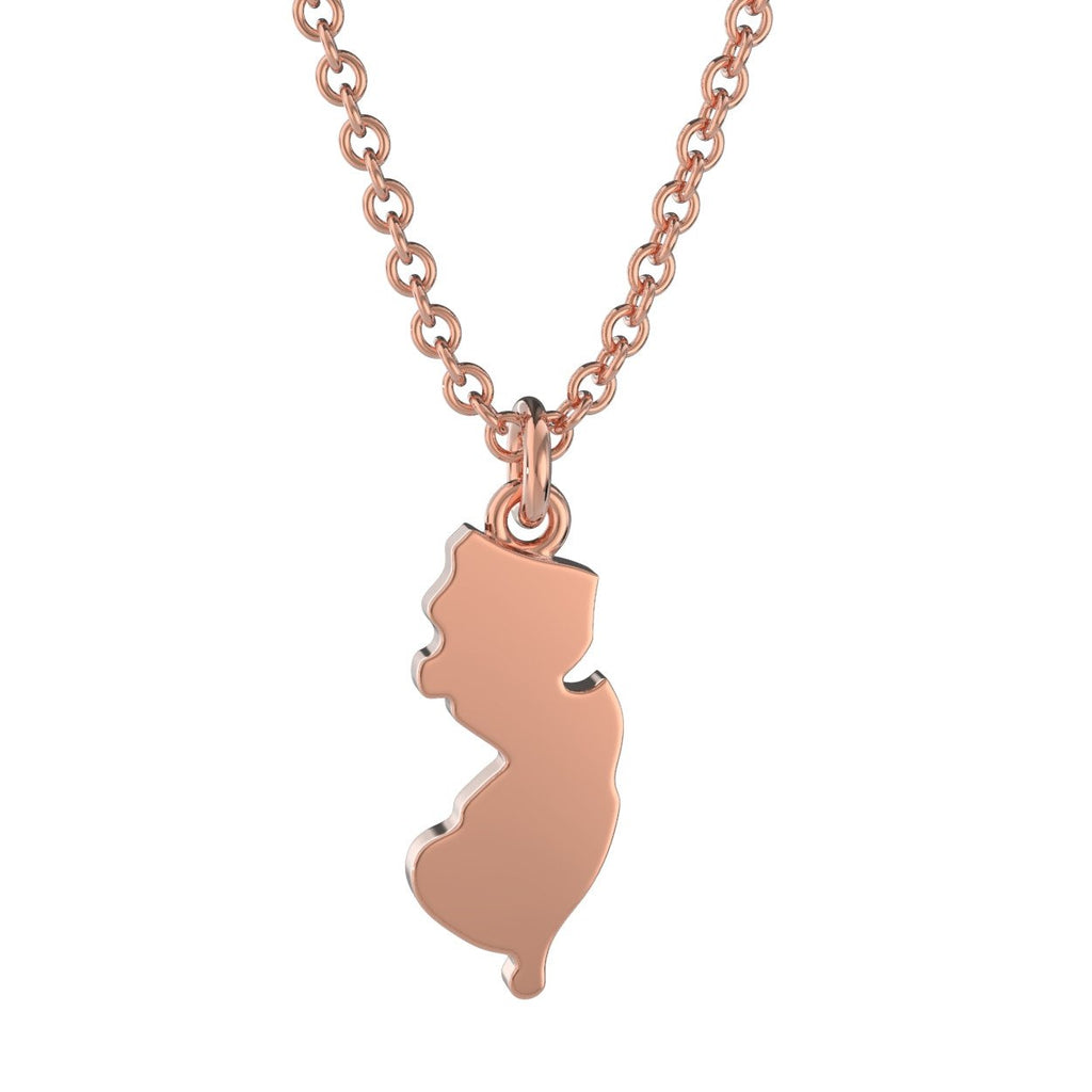 New jersey state charm necklace nava new york new jersey state charm necklace aloadofball Images