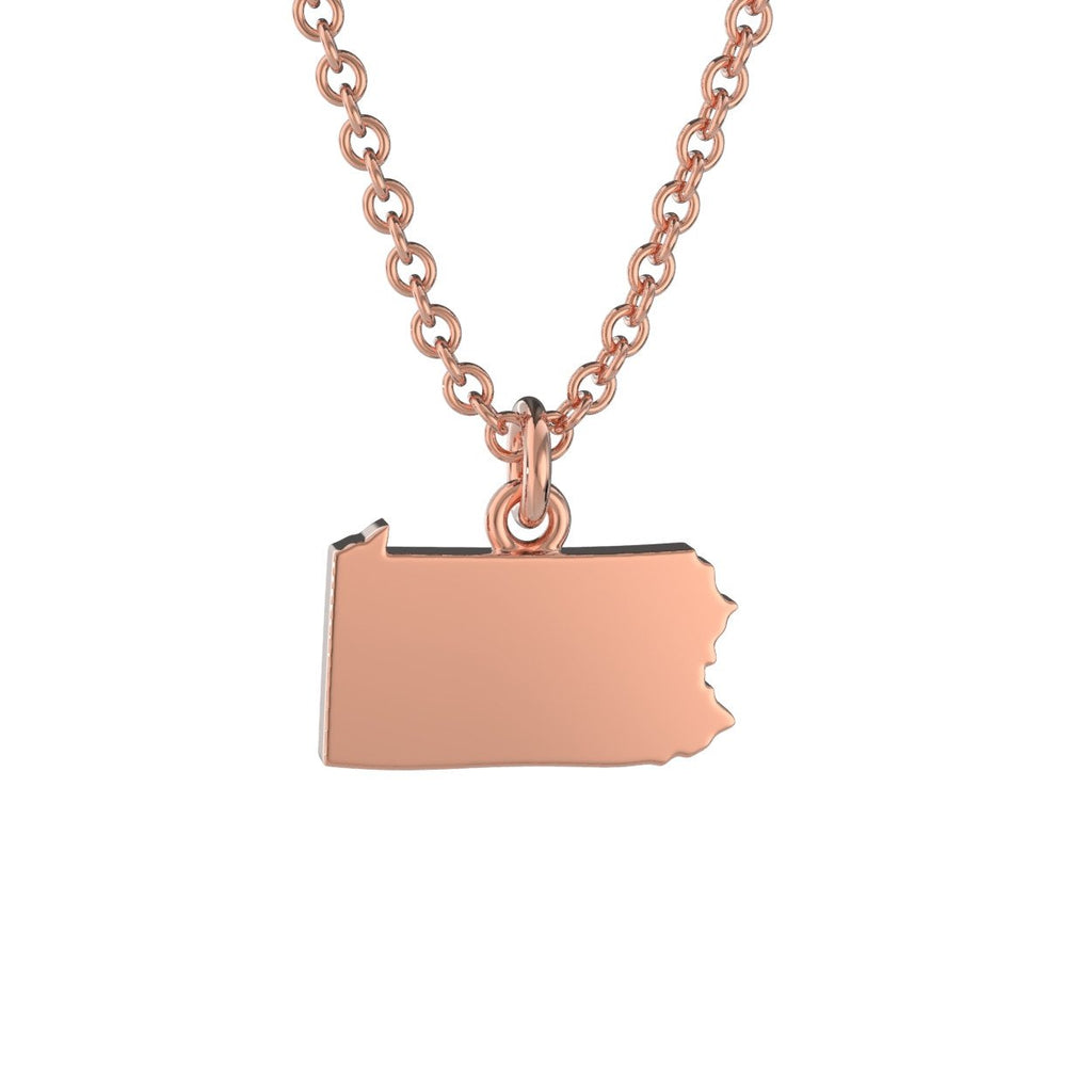 Pennsylvania State Charm Necklace