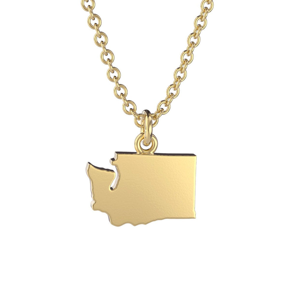 Washington State Charm Necklace