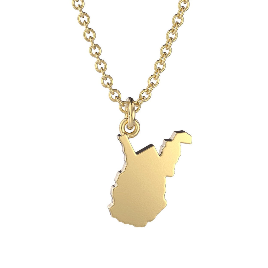 West Virginia State Charm Necklace