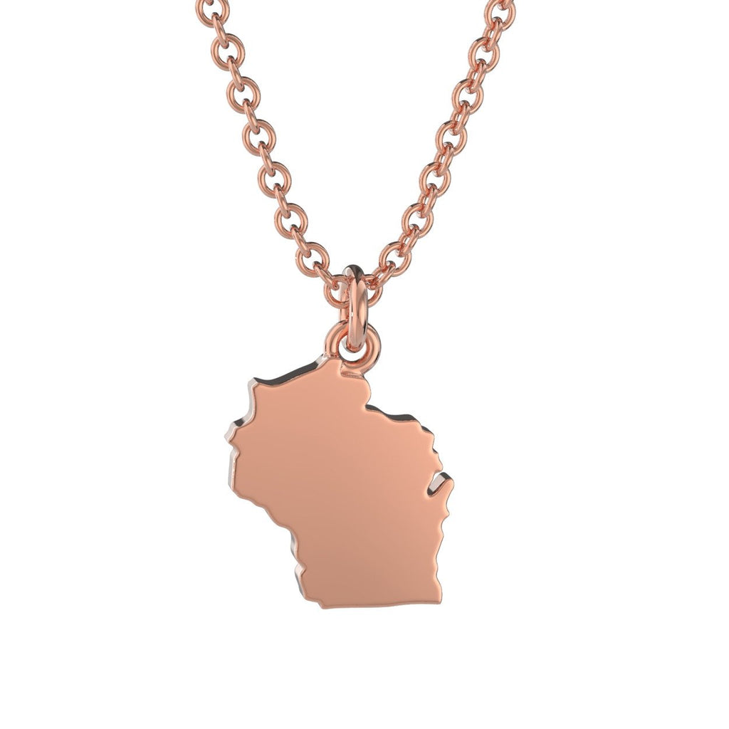 Wisconsin State Charm Necklace