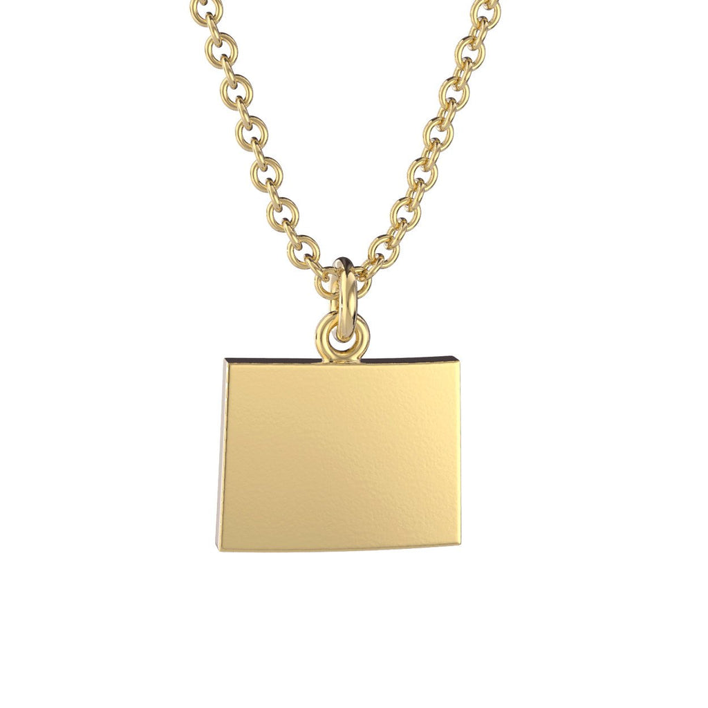 Wyoming State Charm Necklace