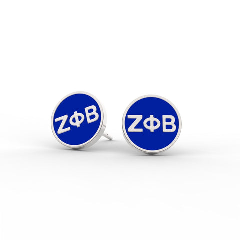 Zeta Phi Beta Enameled Disc Studs