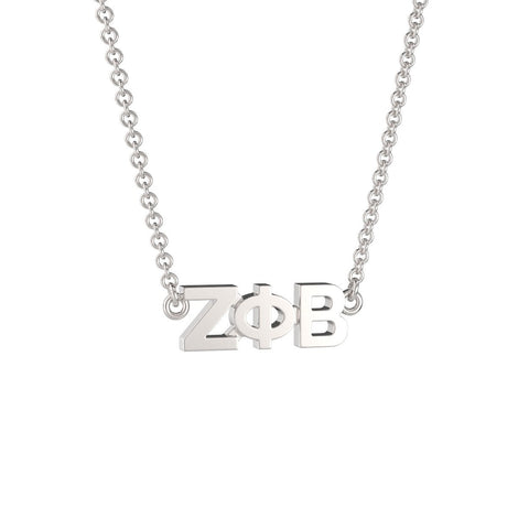 Zeta Phi Beta Signature Lavalier Necklace