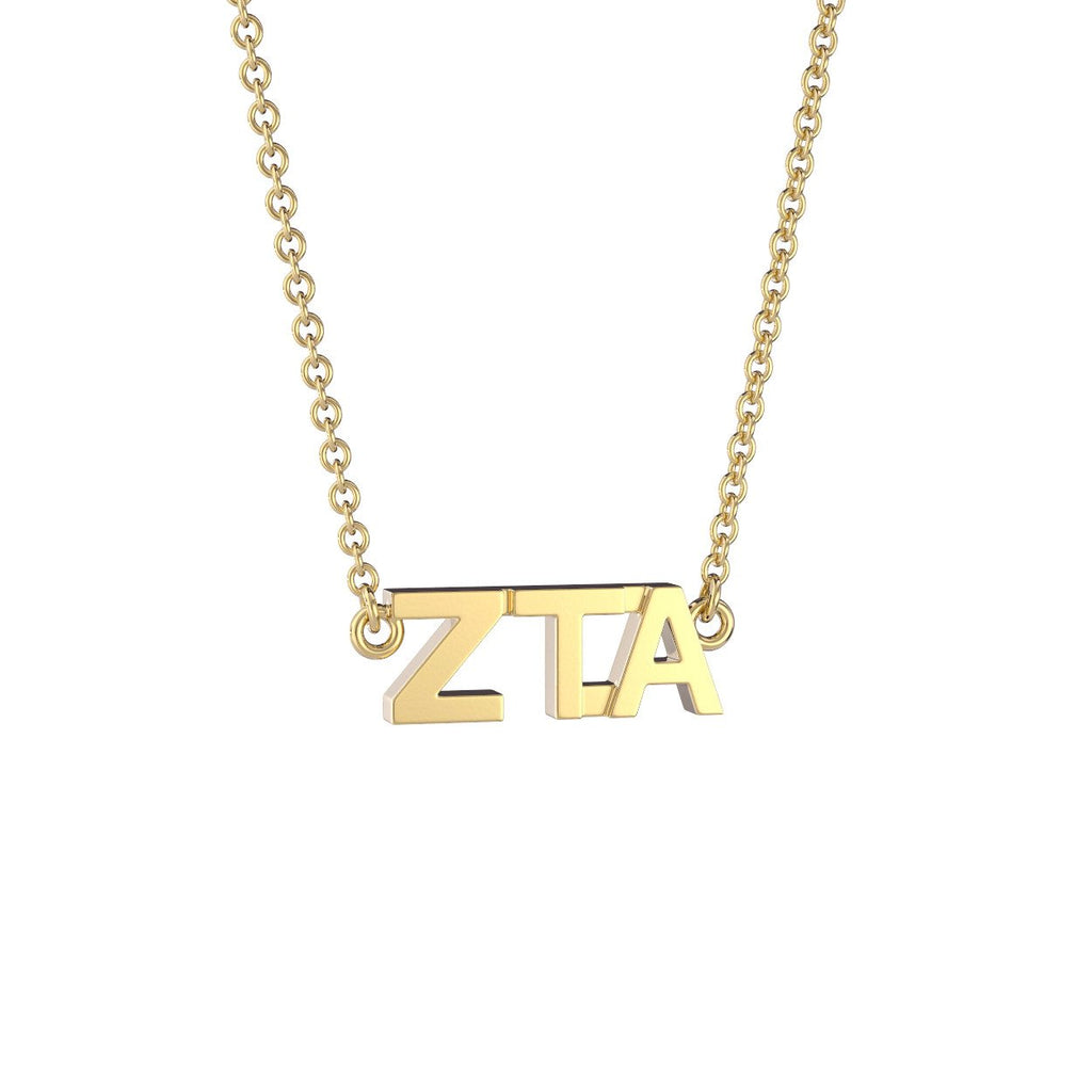 Zeta Tau Alpha Signature Lavalier Necklace Nava New York