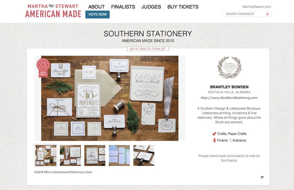 Please vote weve been chosen as a 2014 martha stewart american weve been chosen as a 2014 martha stewart american made awards finalist negle Choice Image