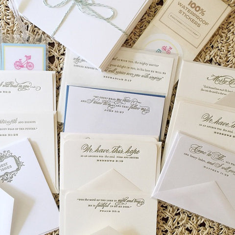 Mixed Letterpressed Card Bundle