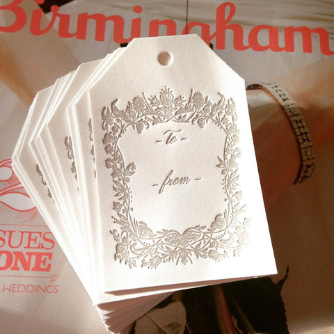 Ornate Letterpress Gift Tags (set of 5)