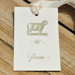 Letterpress Christmas Gift Tags