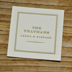 Classic Couple's Letterpressed Perfect Square Enclosure