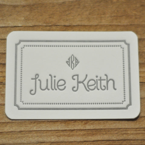 Personal Letterpressed Monogrammed Rectangular Enclosure