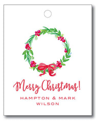 Christmas Tags - Berry Wreath