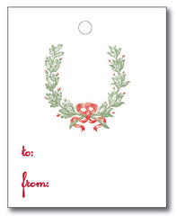 Christmas Tags - Christmas Laurel to/from