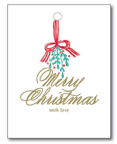 Christmas Tags - Mistletoe to/from
