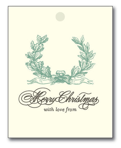 Christmas Tags - Vintage Laurel to/from