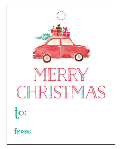 Christmas Tags - Car with presents