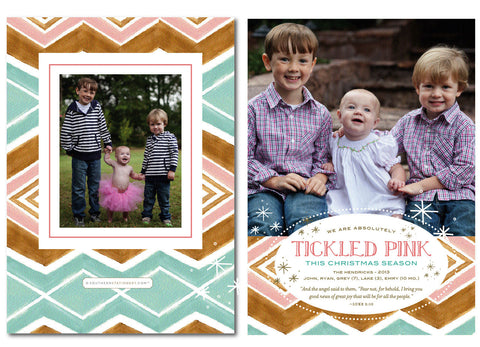 Tickled Pink Christmas Card