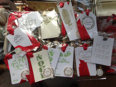 Letterpress Christmas Enclosure Gift Tags