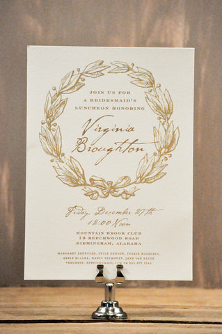 Laurel Wreath Shower Invitation