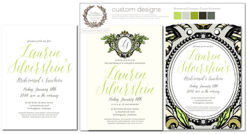 Laura Silverstein Bridesmaid Luncheon Invitation