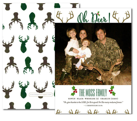 Hunting Stag Christmas Card