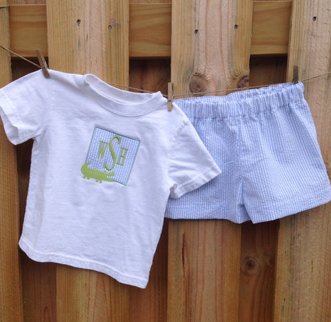 Monogrammed Shirt & Short Set