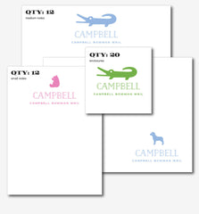 Children's Letterpress Animal Suite